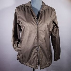 Greg Norman Brown Zip-up Rain Lightweight Jacket